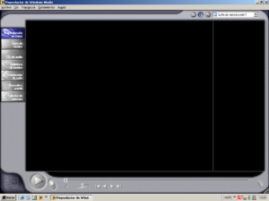 Windows Media Player 7 en Windows Millenium.