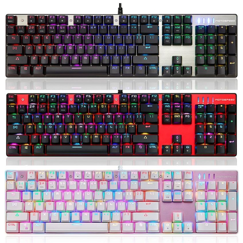 Variedad de colores de teclados.