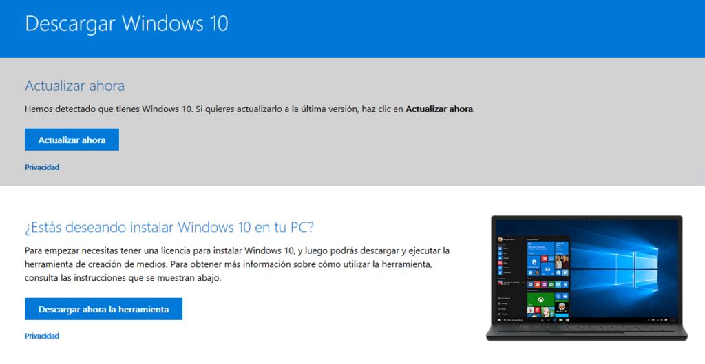 Pagina De Actualizaciones, Microsoft