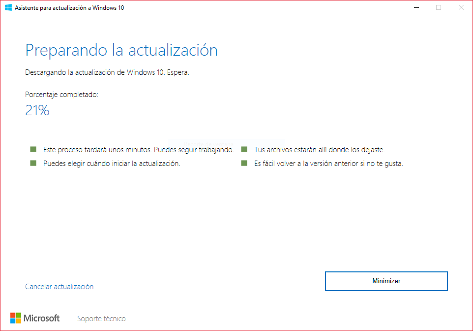 Asistente De Actualizacion a Windows 10