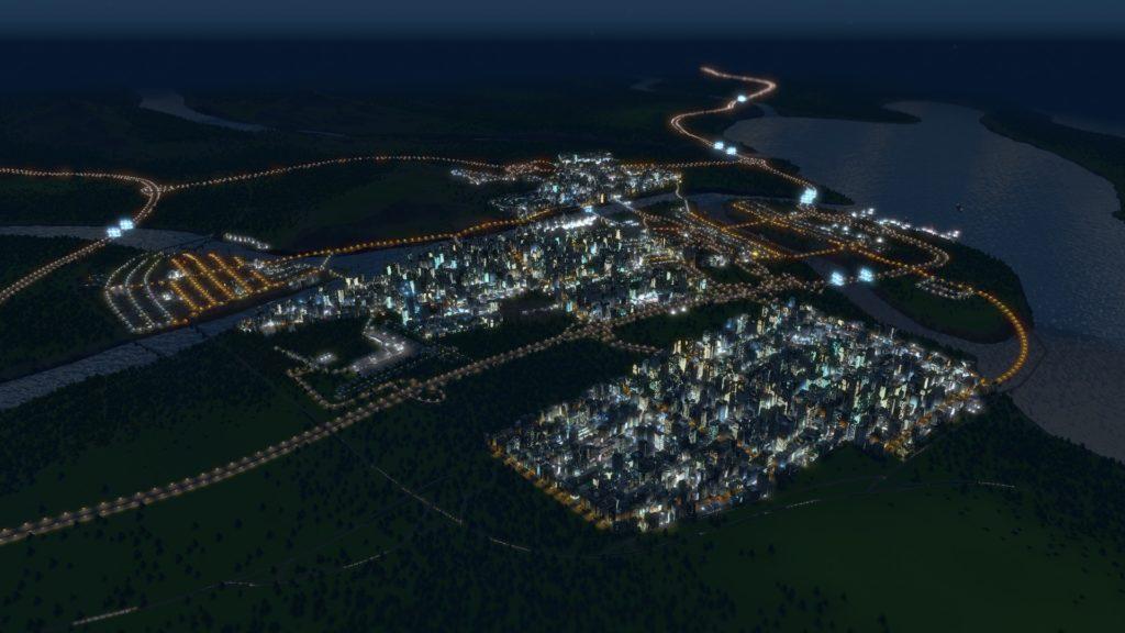 Ciudad de Corneria, en una hermosa noche.