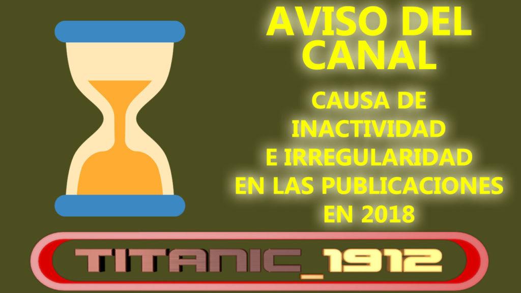 [COMUNICADO] CAUSA DE LA INACTIVIDAD E IRREGULARIDAD EN LAS PUBLICACIONES EN 2018